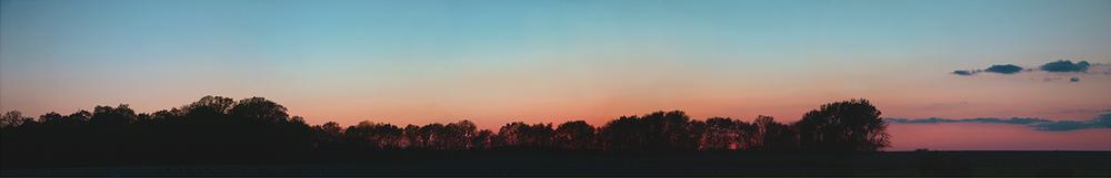 """Minier Sunset, 2009 15"""" x 72"""""""
