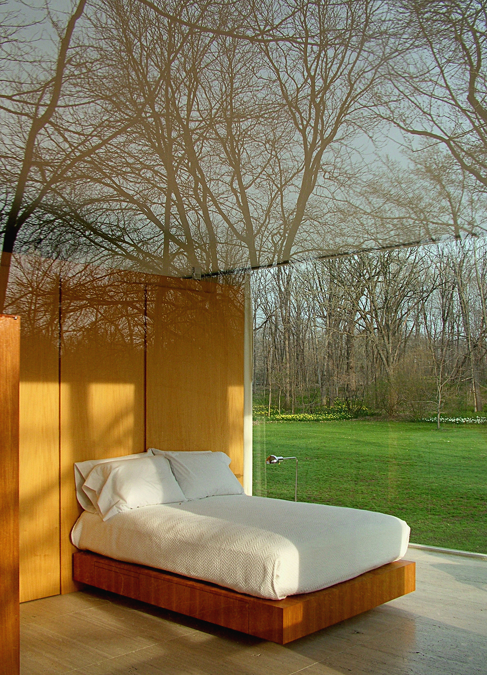 "Farnsworth House Bed, 2008  36"" x 26"""
