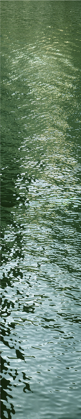 "River Light No. 3, 2002 76"" x 18"""