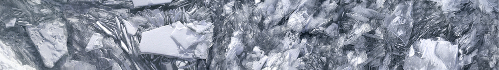 "Lake Michigan Ice No. 1, 2003 17"" x 96"""