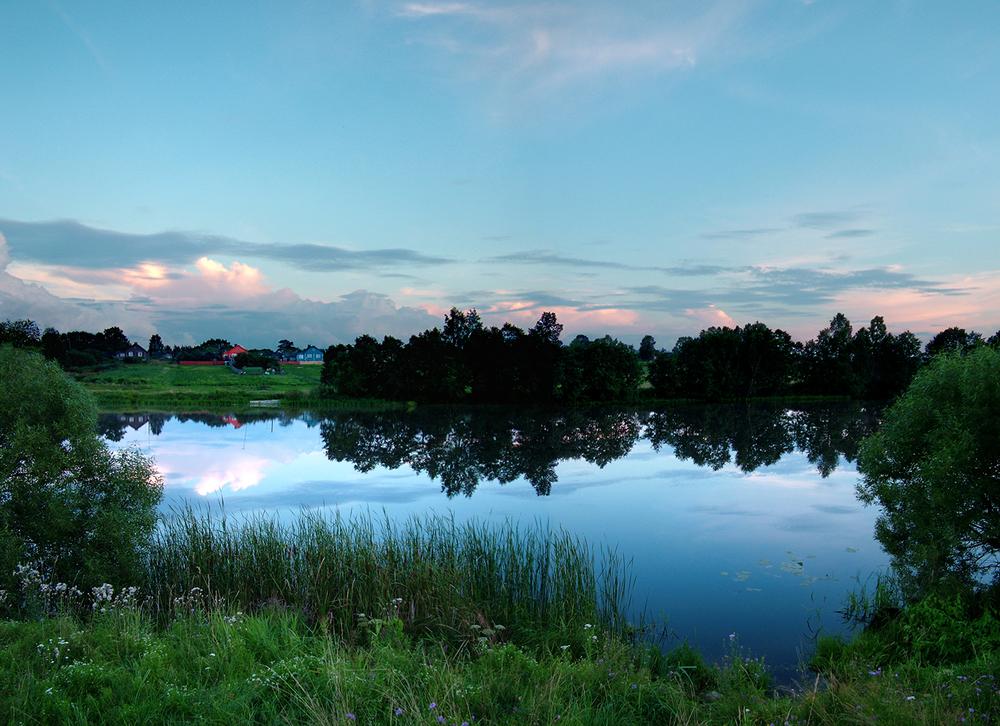 "Nerl River at Beregovo, 2008 36"" x 48"""