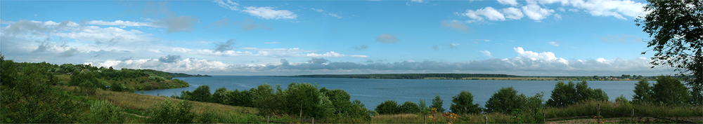 "Volga Clouds, 2006 16"" x 72"""