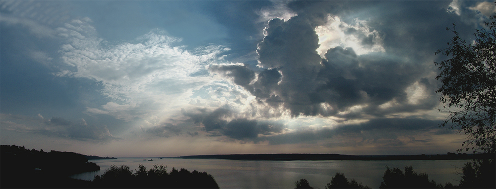 "Volga River at Shestakovo, 2004 30"" x 72"""