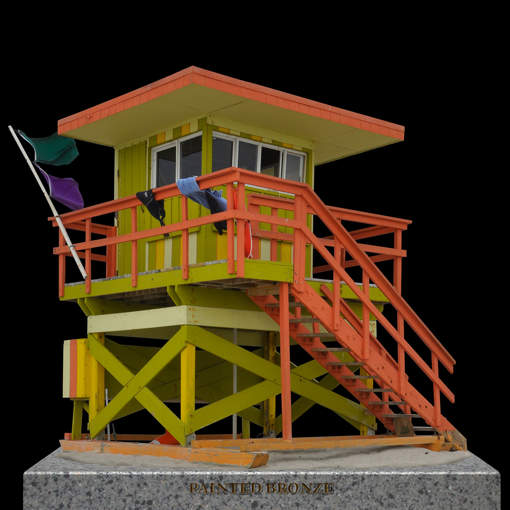 "Painted Bronze Life Guard Station 4, 2012   40"" x 40"""