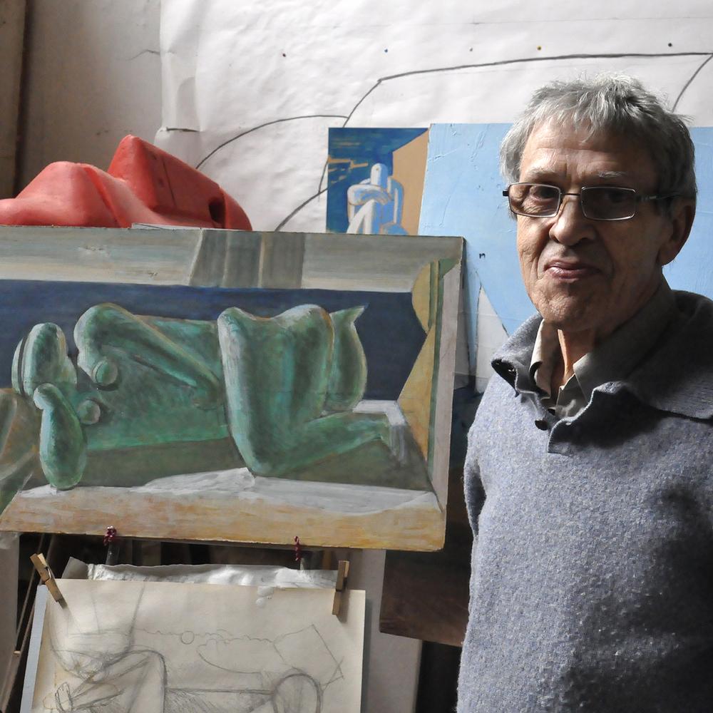 """Andrei Dillendorf in Studio, 2012  24"""" x 24"""""""