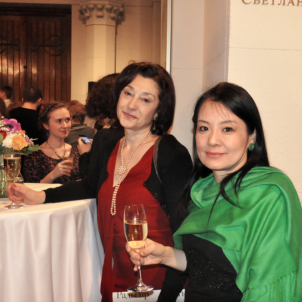 "Tanya Paleeva and Naomi Maki at Pushkin Reception, 2012  24"" x 24"""