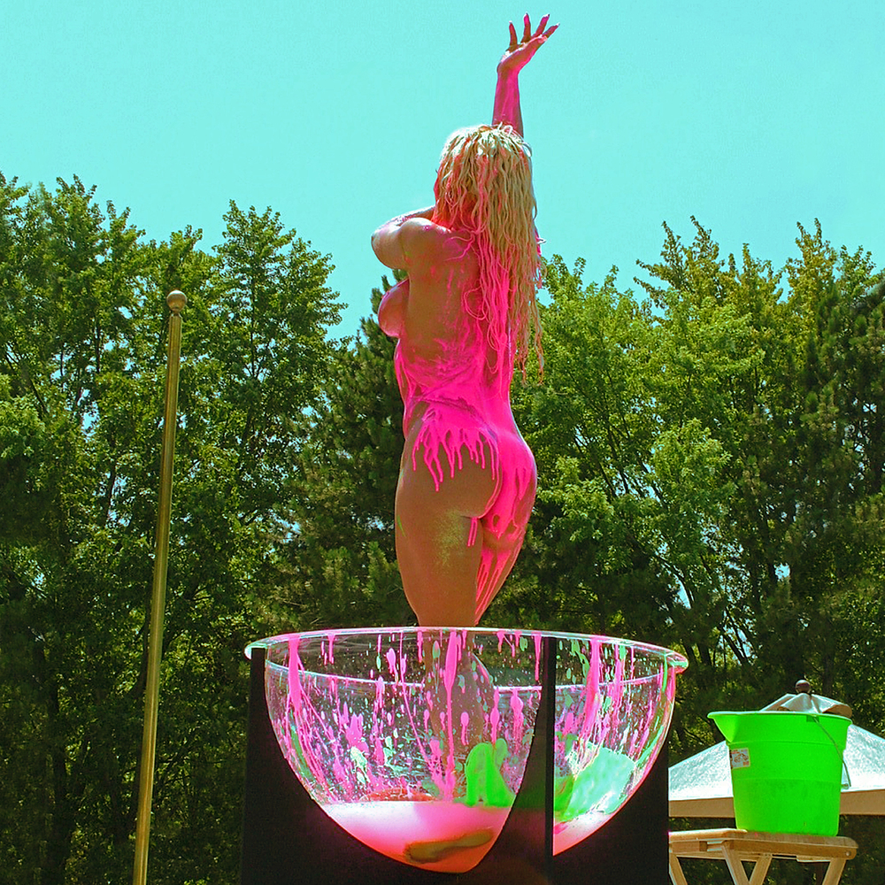 "Neon Bather 2, 2004   20"" x 20"""