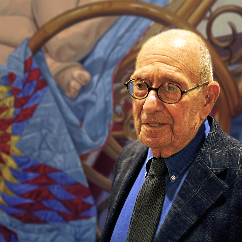"Philip Pearlstein in Chicago, 2014  24"" x 24"""