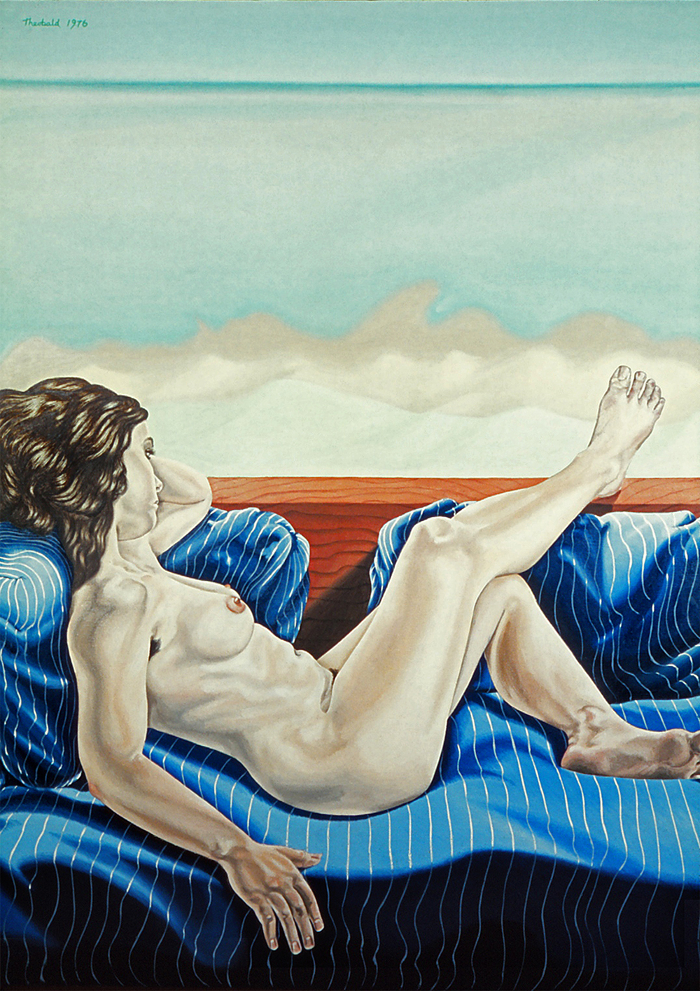 "Lake Michigan Nude 1976  48"" x 36"" oil on linen"