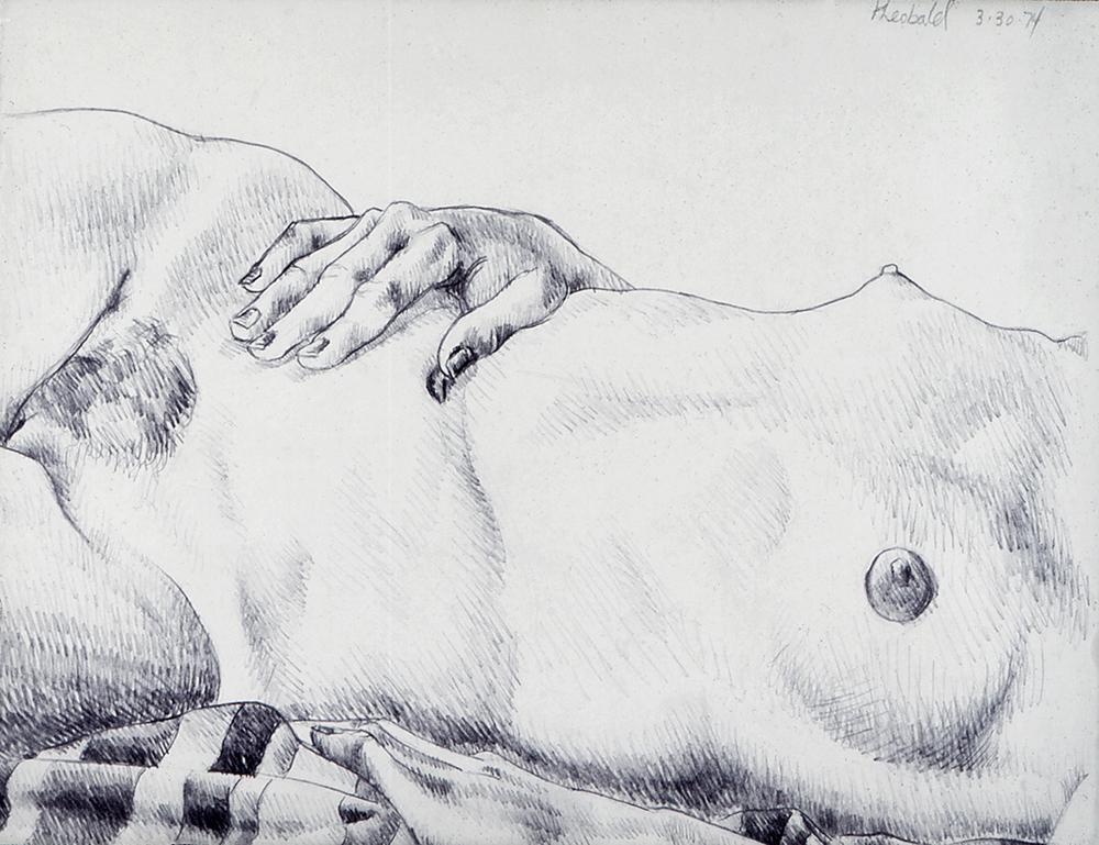 3.30.74 II, 1974  Pencil