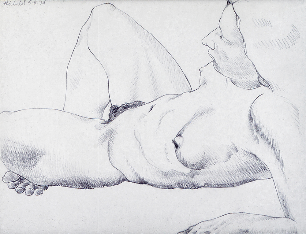 5.8.74 III,, 1974  Pencil