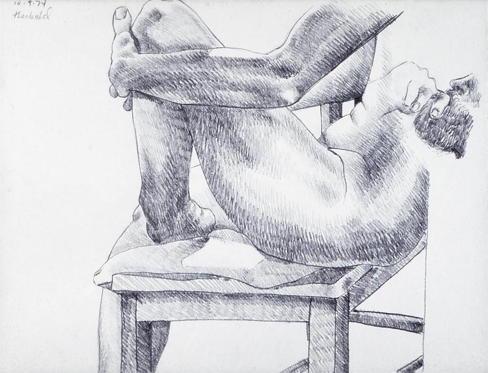10.9.74, 1974  Pencil