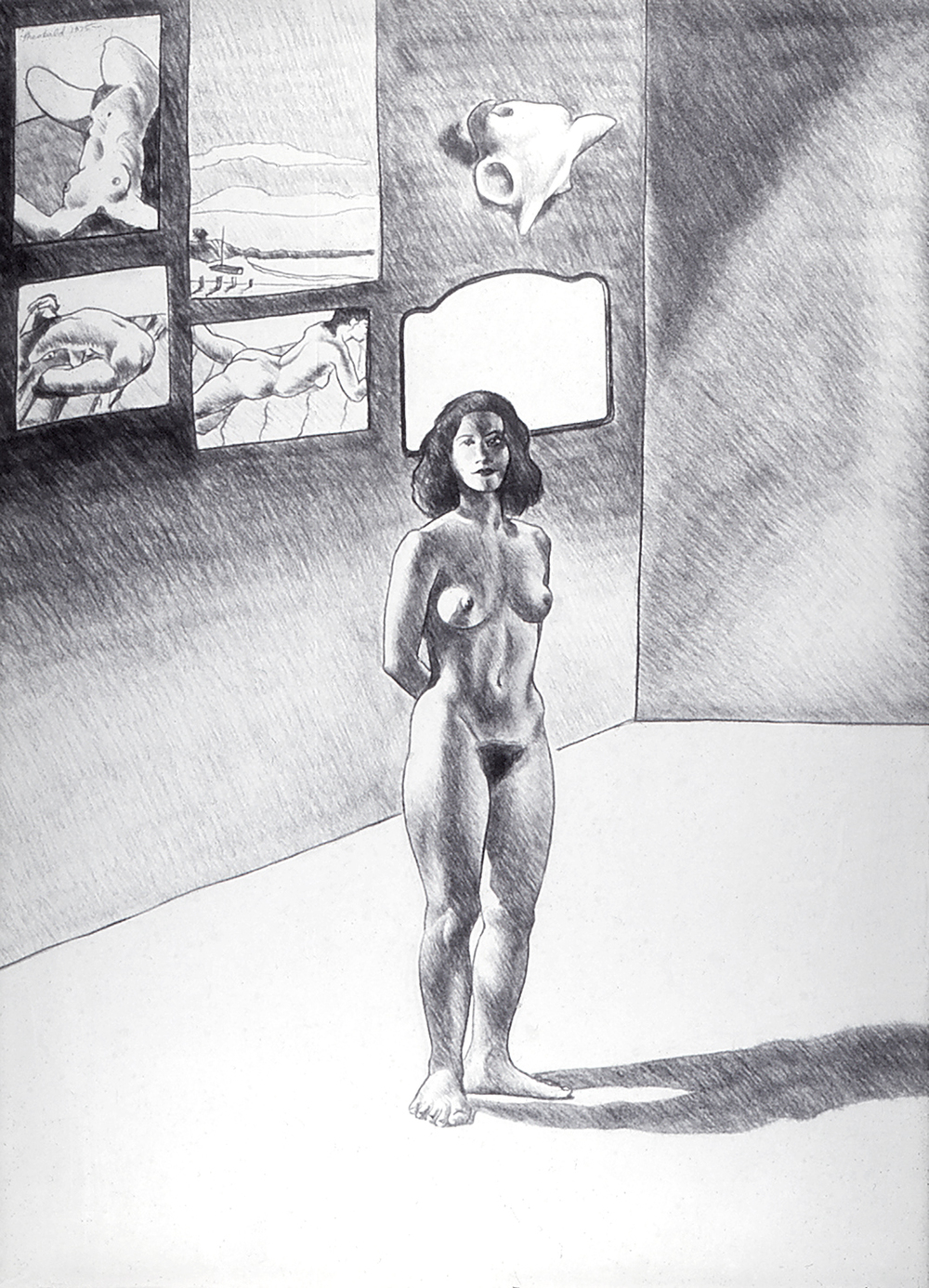 Studio Nude, 1975  Charcoal on Rives