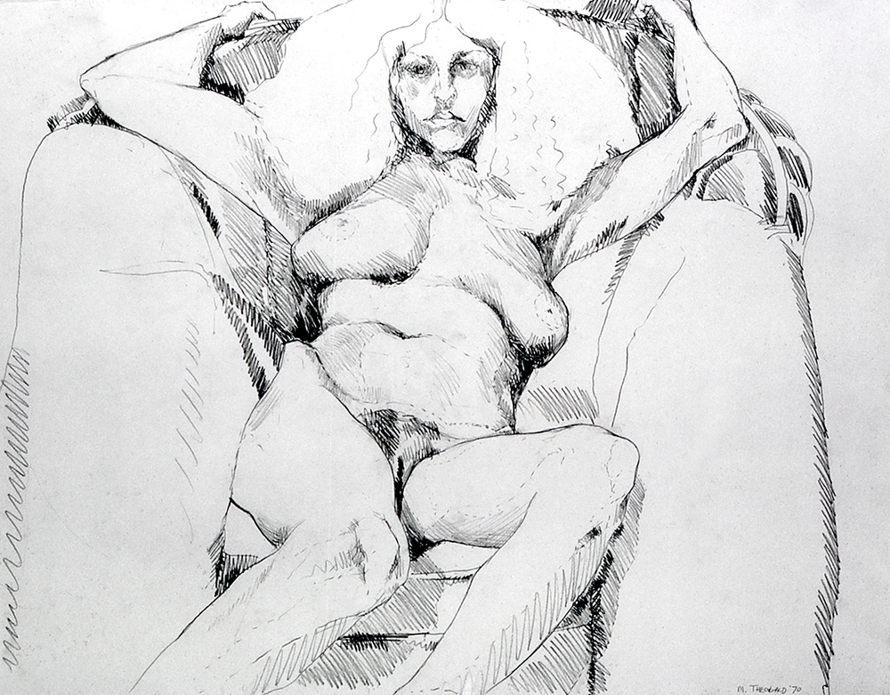 Untitled Drawing, 1970  Charcoal