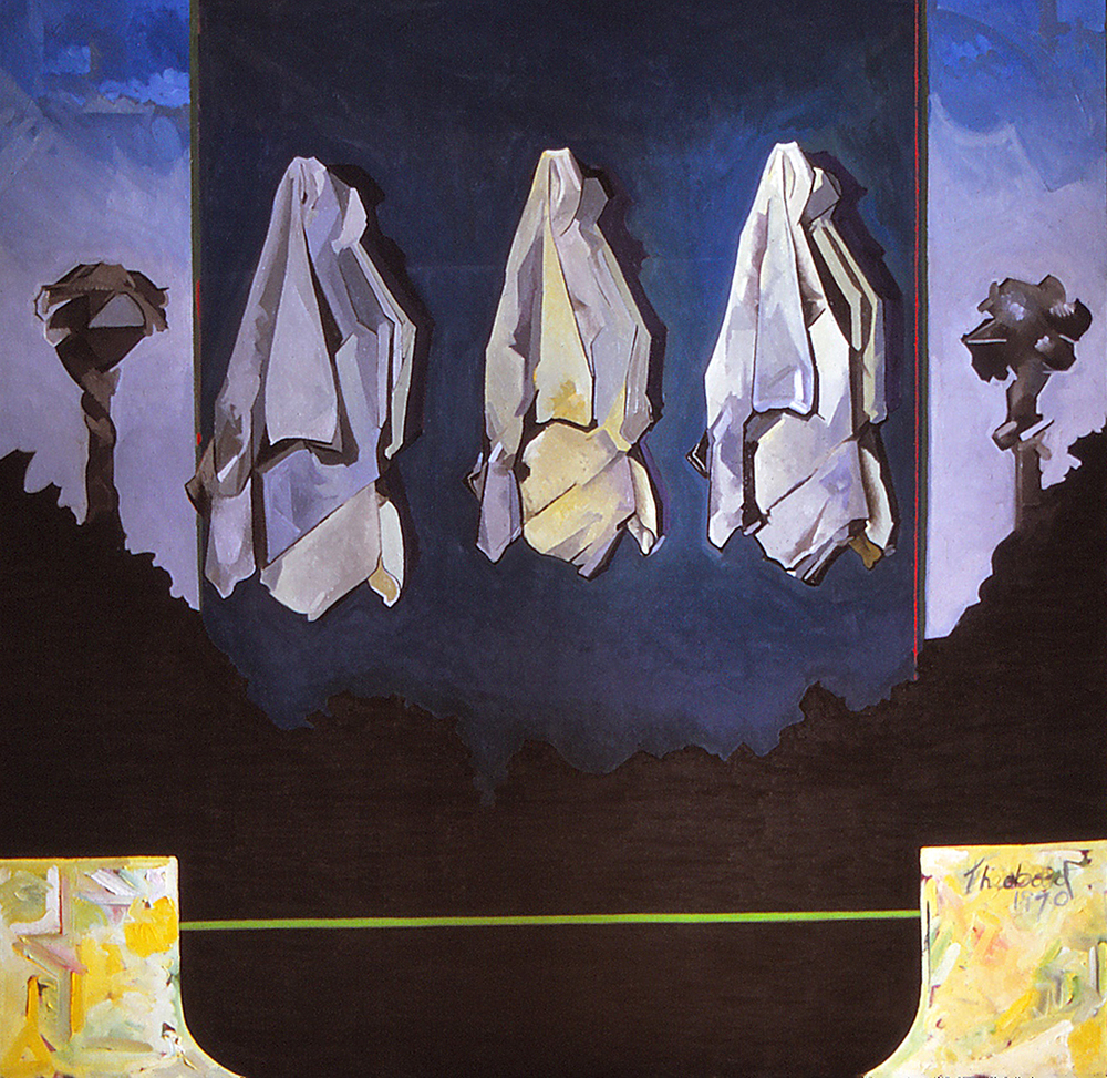 "Untitled, 1970  Oil on canvas 72""x72"""