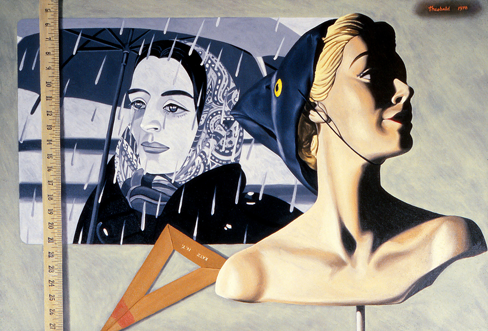 Tribute to Alex Katz, 1978  Oil on canvas