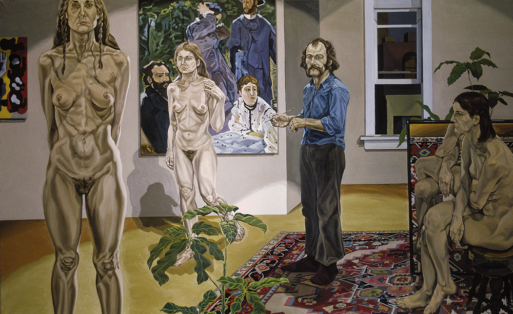 "Responsibility Self Portrait, 1971  72"" X 120"" Oil on linen"
