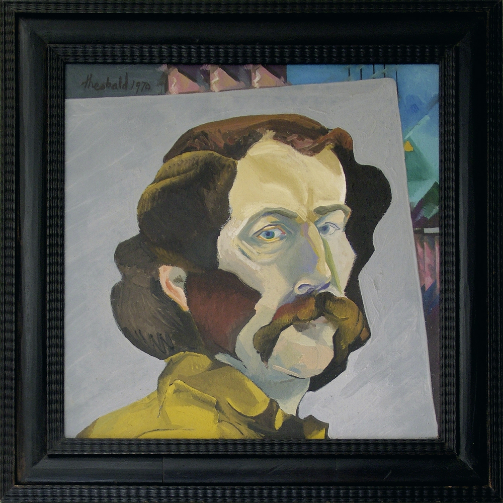"Self Portrait 1 1970  18"" x 18"" Oil on canvas"