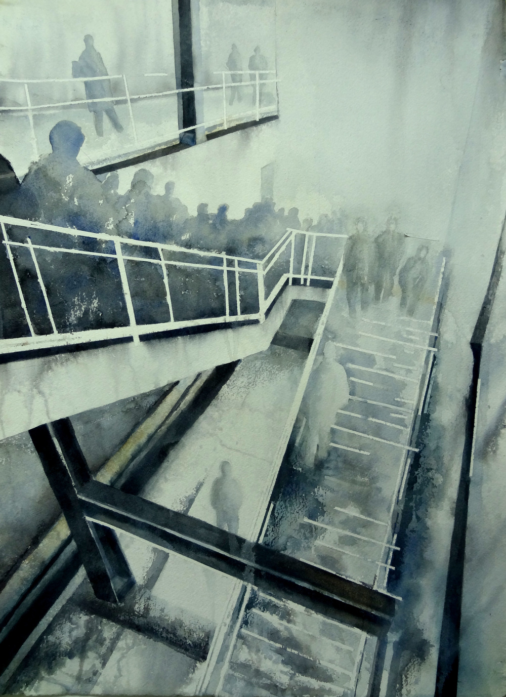 Deep Stairs         30 x 22 inches