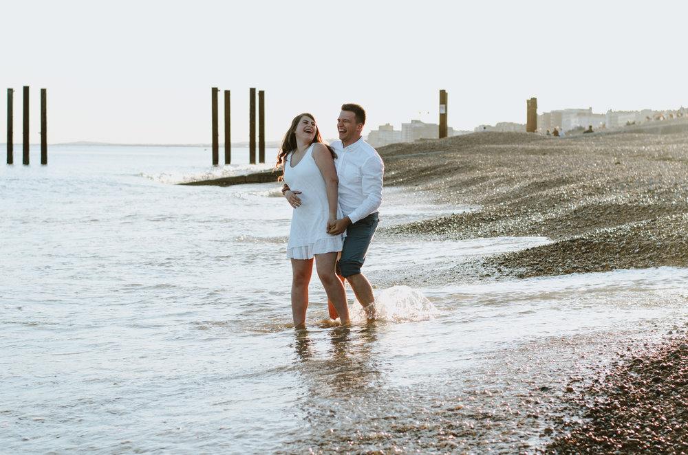 Ieva & Julius - Brighton Beach - Couple Session - Aiste Saulyte Photography-14.jpg
