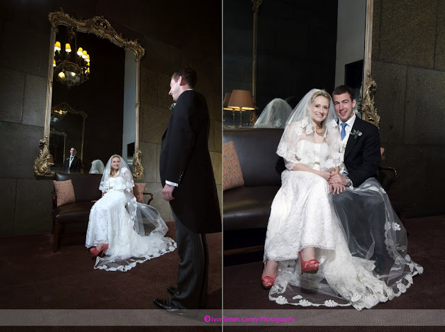 Formal wedding portraits at The New Club on Prices Street
