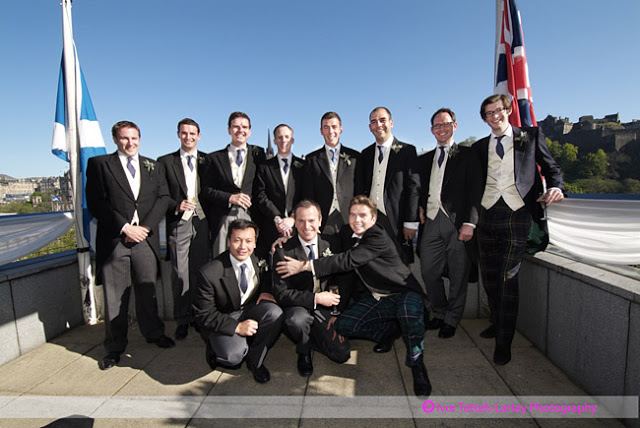 Wedding group photography of the groom, best man and ushers