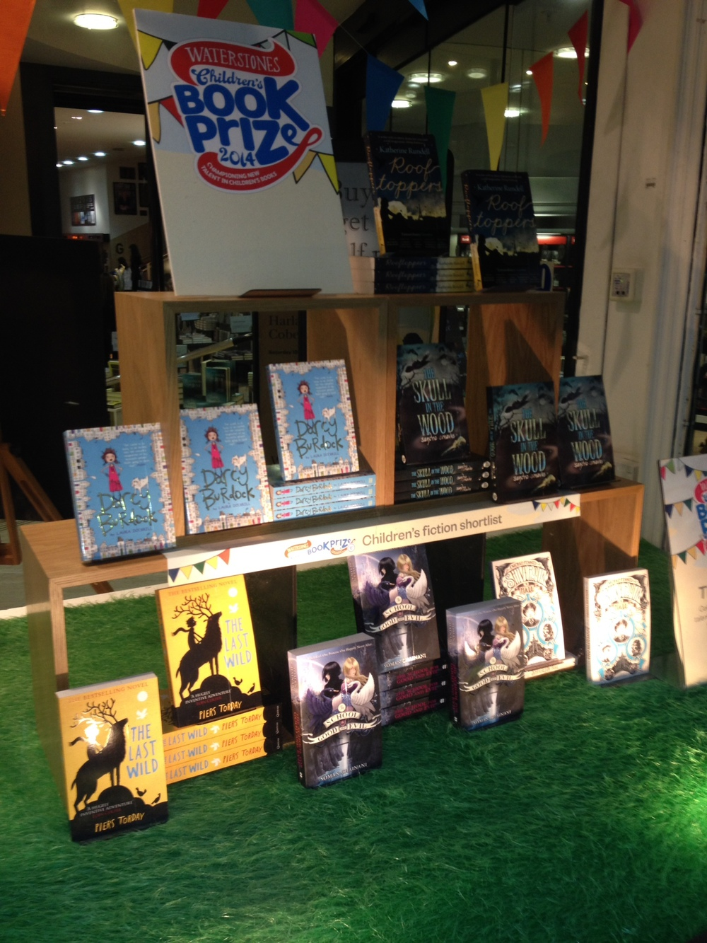 All the nominated books on display in the front window of Waterstones Piccadilly - amazing!