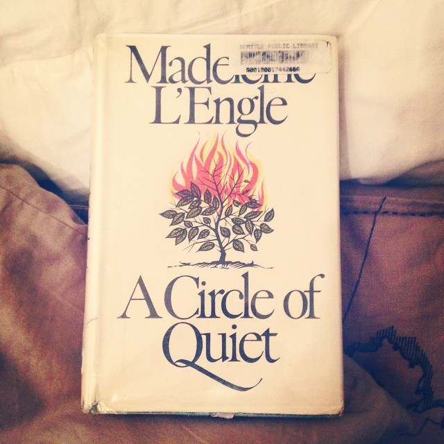 This is just an endearing journal written by Madeline L'Engle, well written, lovely. #acircleofquiet