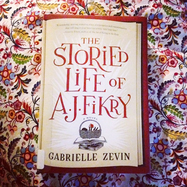 I haven't been sleeping very well, so naturally I read. Finished #thestoriedlifeofajfikry in 3 days. It's about the life of a bookstore owner in a small town in the NE. I loved it.