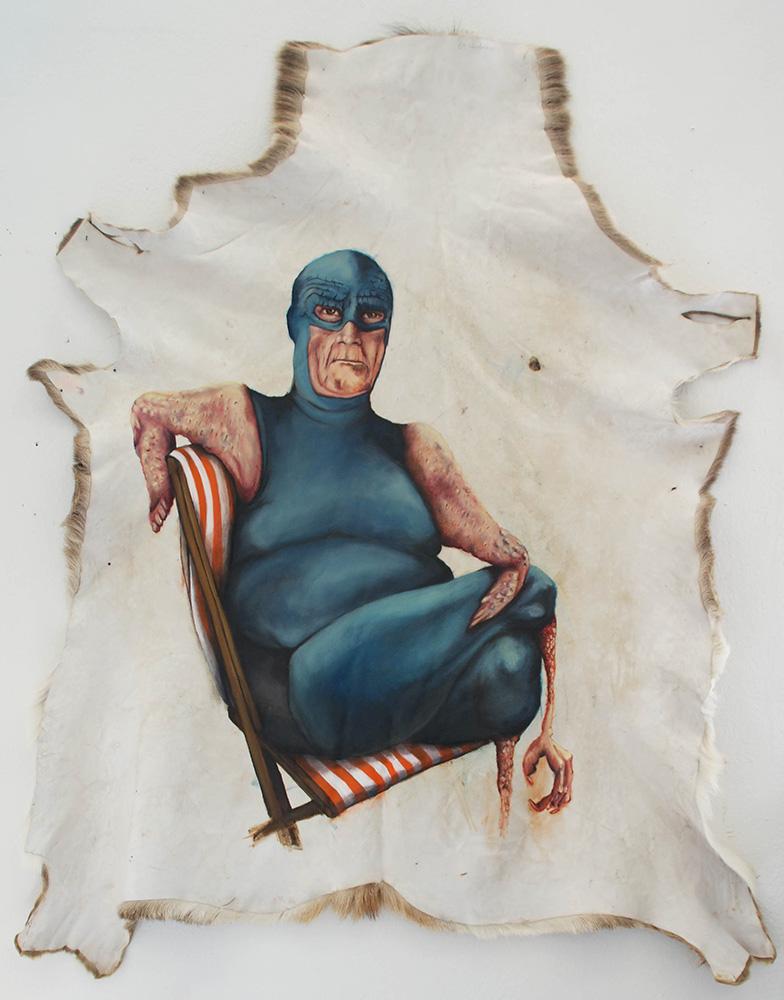 untitled, 2012, 140x100 cm, oil on deerskin