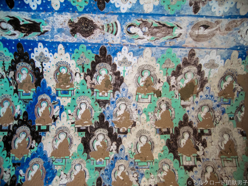 Stripped Mural 'Five-string Biwa' (The 8th cave of the Kizil Grottoes) Photo by Y. Kojima