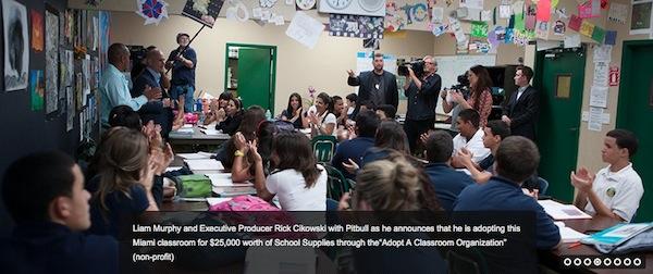 Pitbull adopts a classroom
