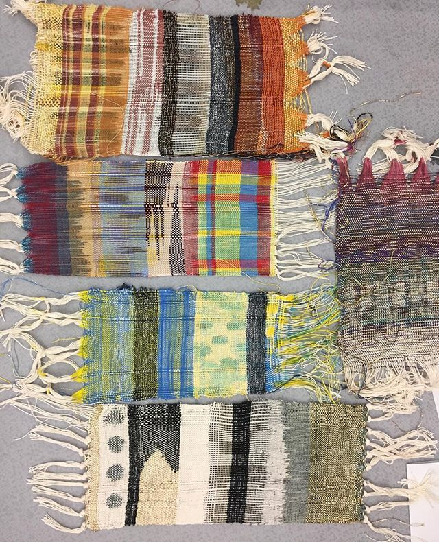 🎨Floored yet again! #weaving #warppainting #textileartscenter #textiles