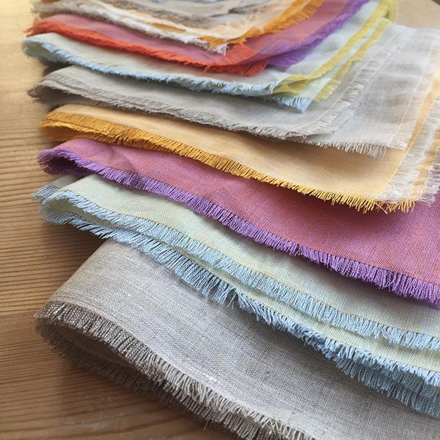 Too cute! Fringed Napkin class at Purl Soho, December 11th! #sewing #napkins