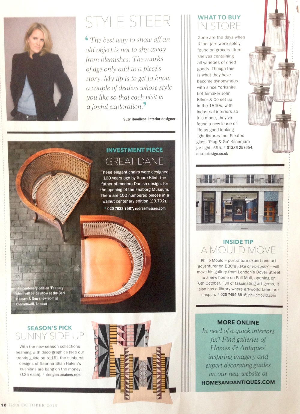 Homes & Antiques Magazine, October 2015