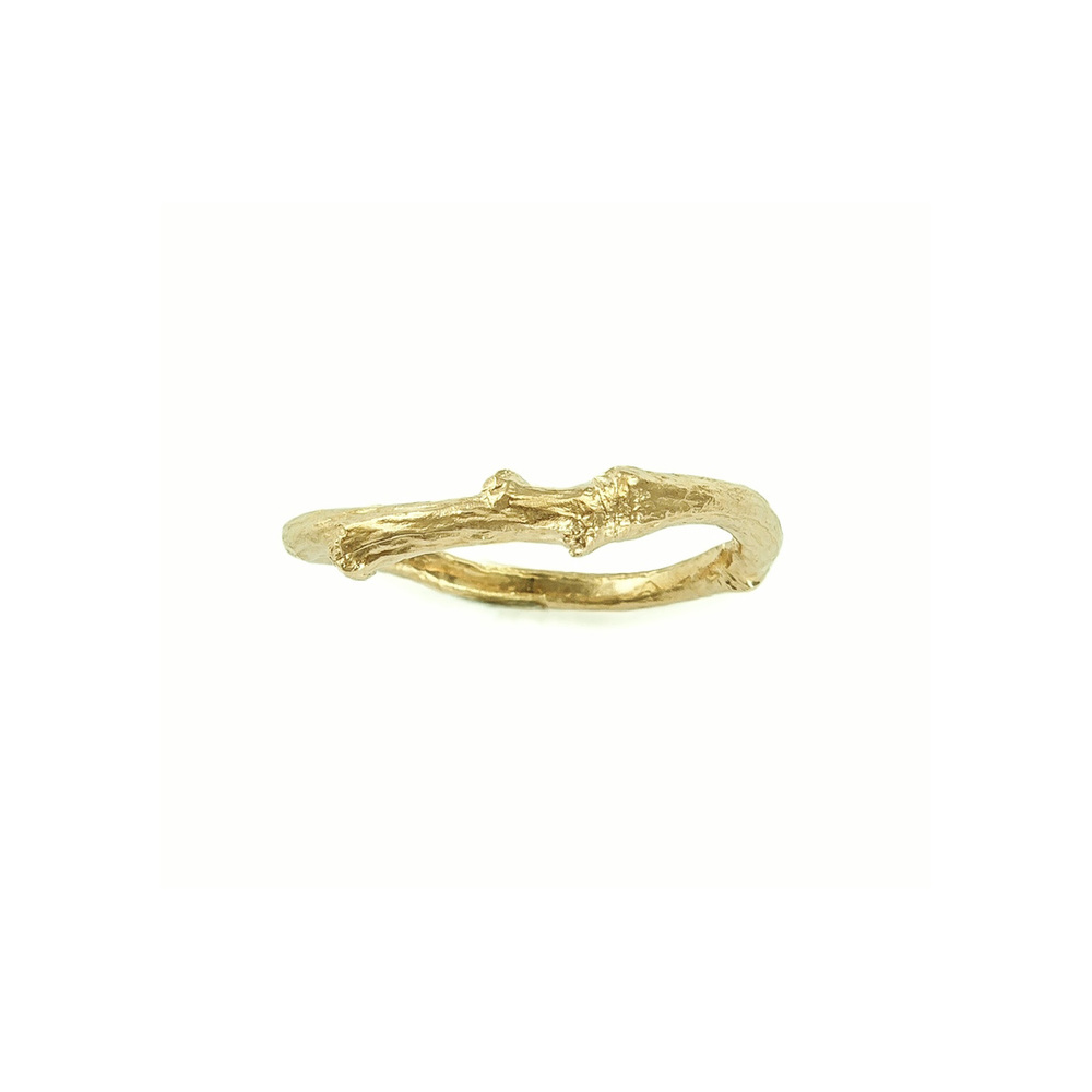 Image 2 Lucy sylvesterTwig Band  9ct Yellow gold wedding ring..jpg
