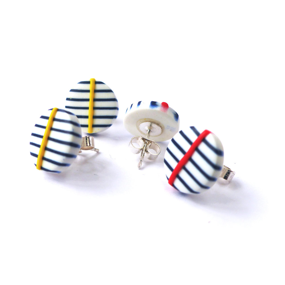 Breton studs stripes yellow and red line.JPG