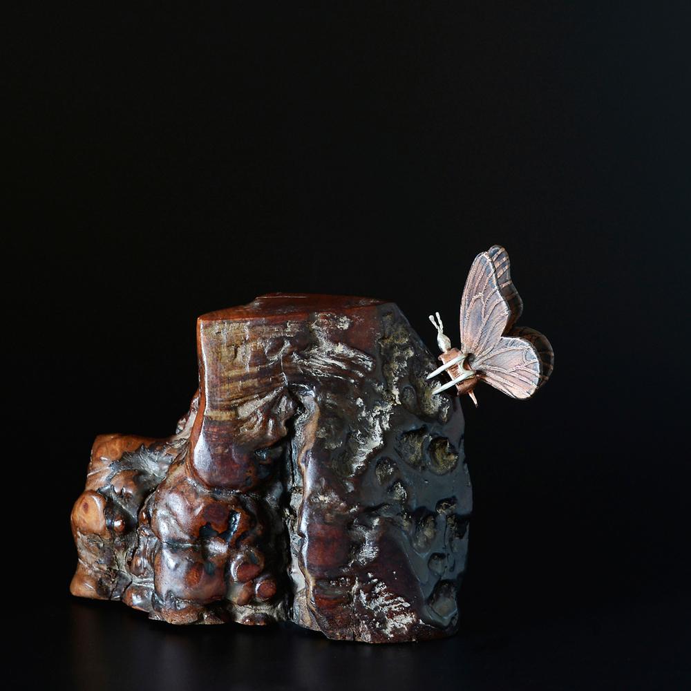 Butterfly Brooch (prototype)  Copper, sterling