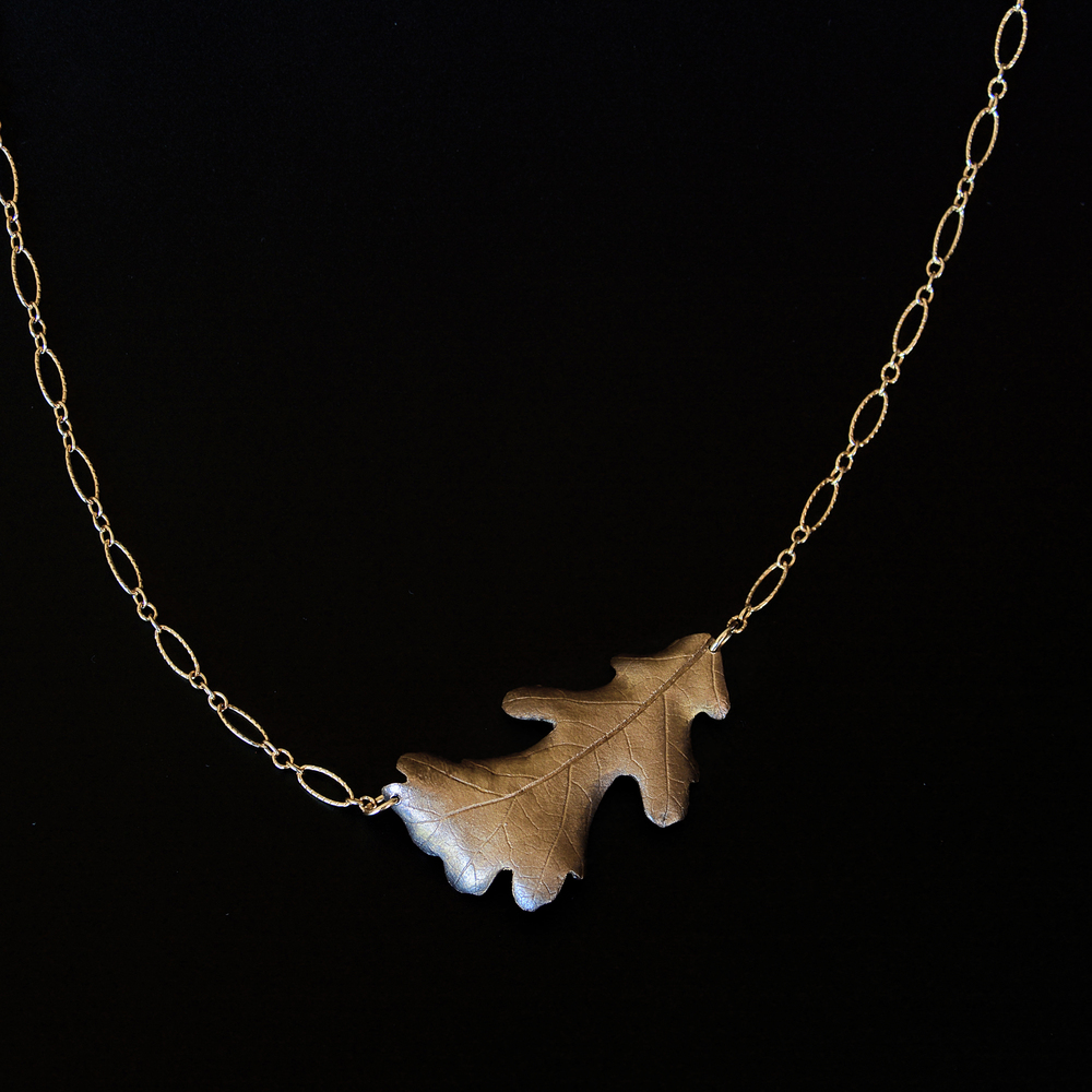 Fall Oak Necklace  Bronze  Private Collection