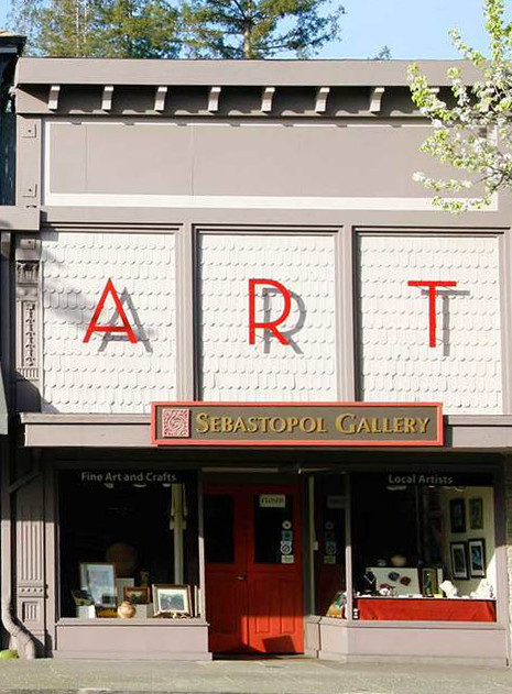 Sebastopol Gallery    150 N. Main Street, Sebastopol, CA 95472    707-829-7200    open daily 11am - 6pm