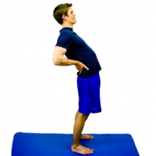 Perform 10 repetitions, holding each for 2-3 seconds for every 2 hours you sit.