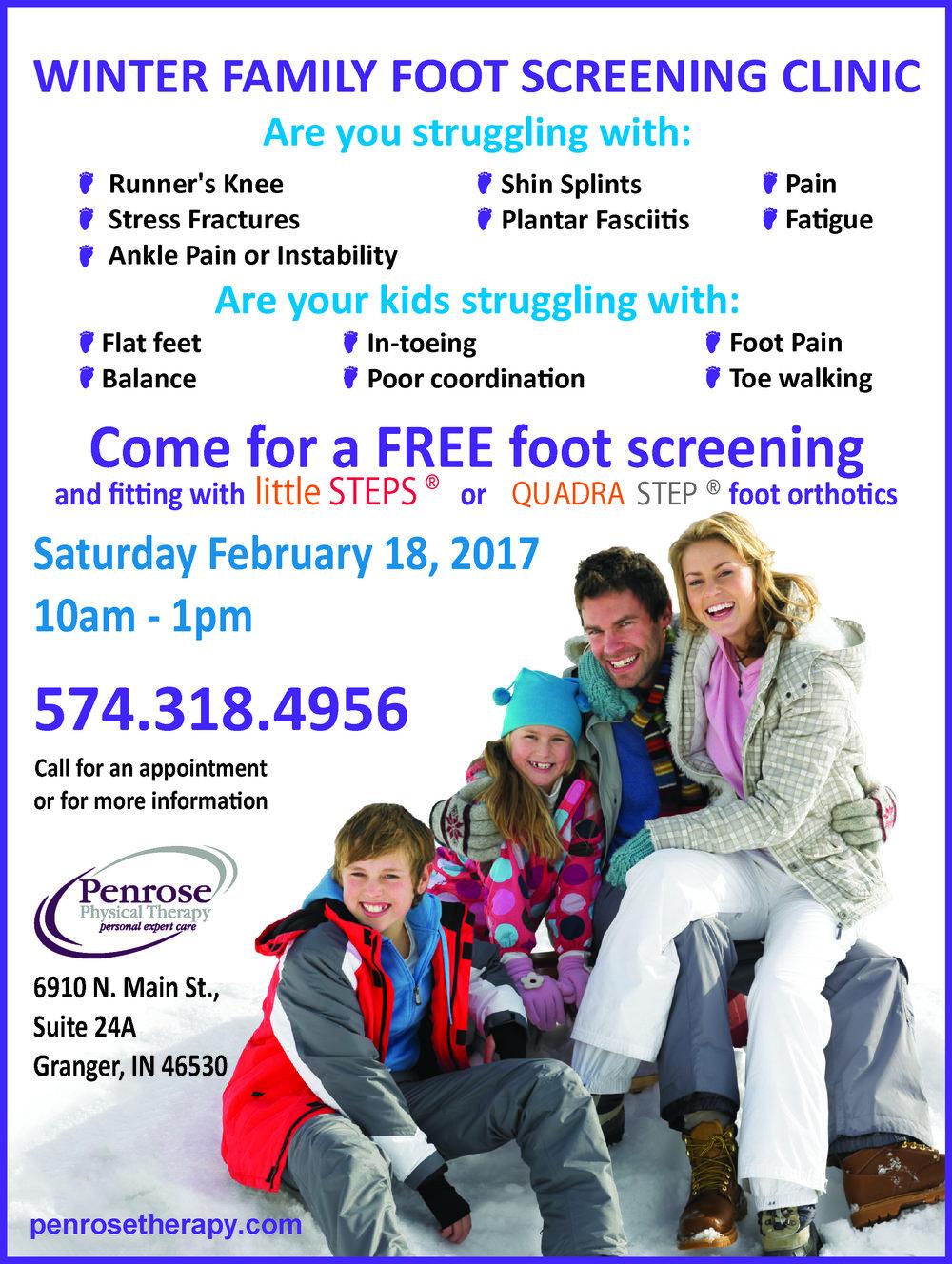 Family Foot Screening Day