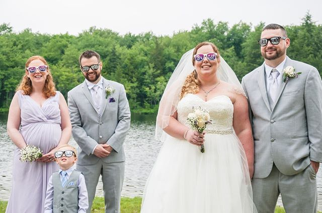 Husband and wife... along with the best man and matron of honor... (and their amazing sunglasses!) #Wallawallastudios #canon #canonphotography #weddingphotography #engagementphotography #familyphotography #maternityphotography #newbornphotography #portraitphotography #newjersey #nj #jerseyshore #centraljersey #love #art