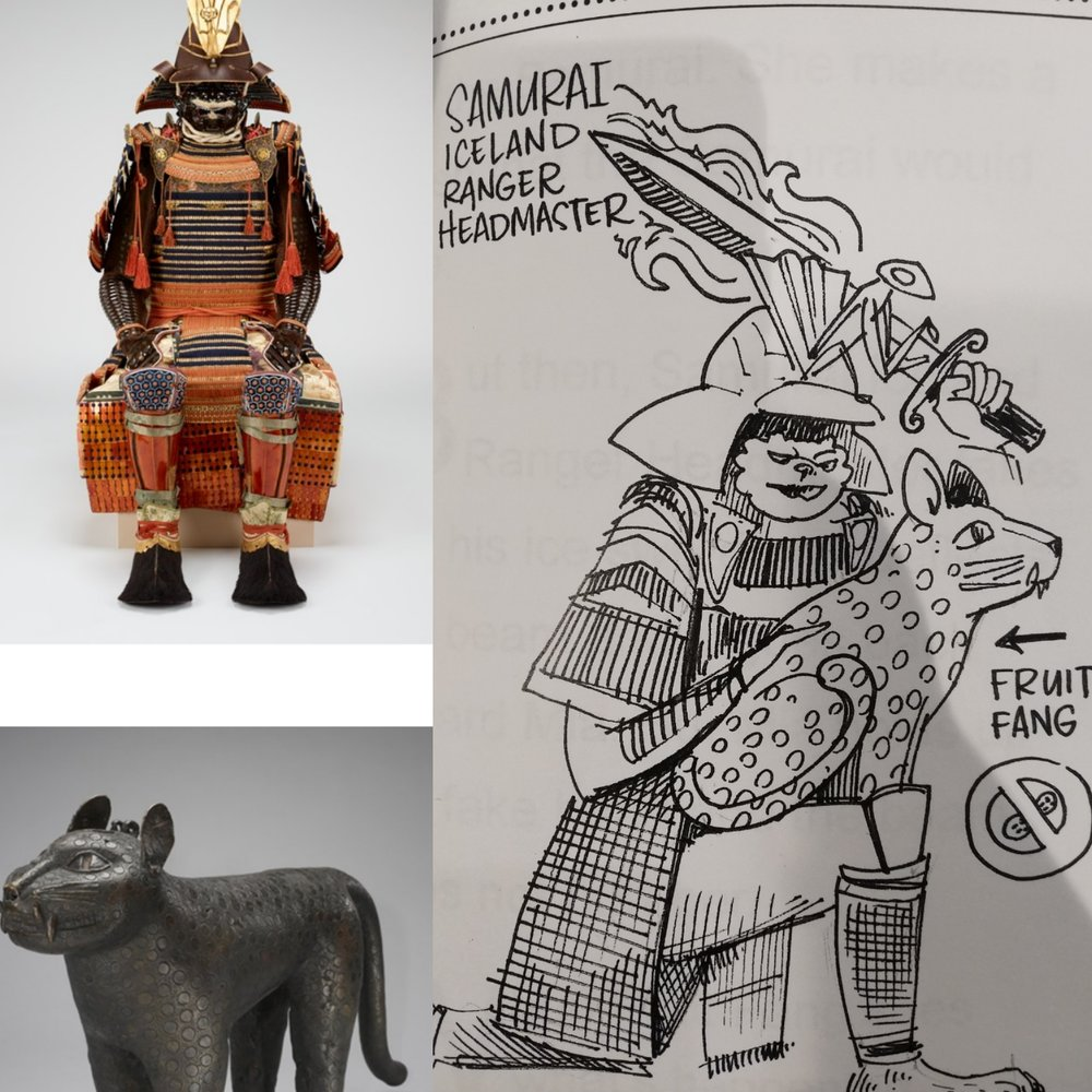 At our Mia field trips, students create characters based on art pieces.