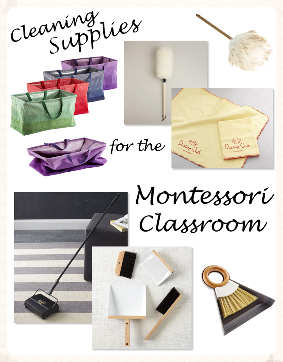 Cleaning Supplies for the Montessori Classroom