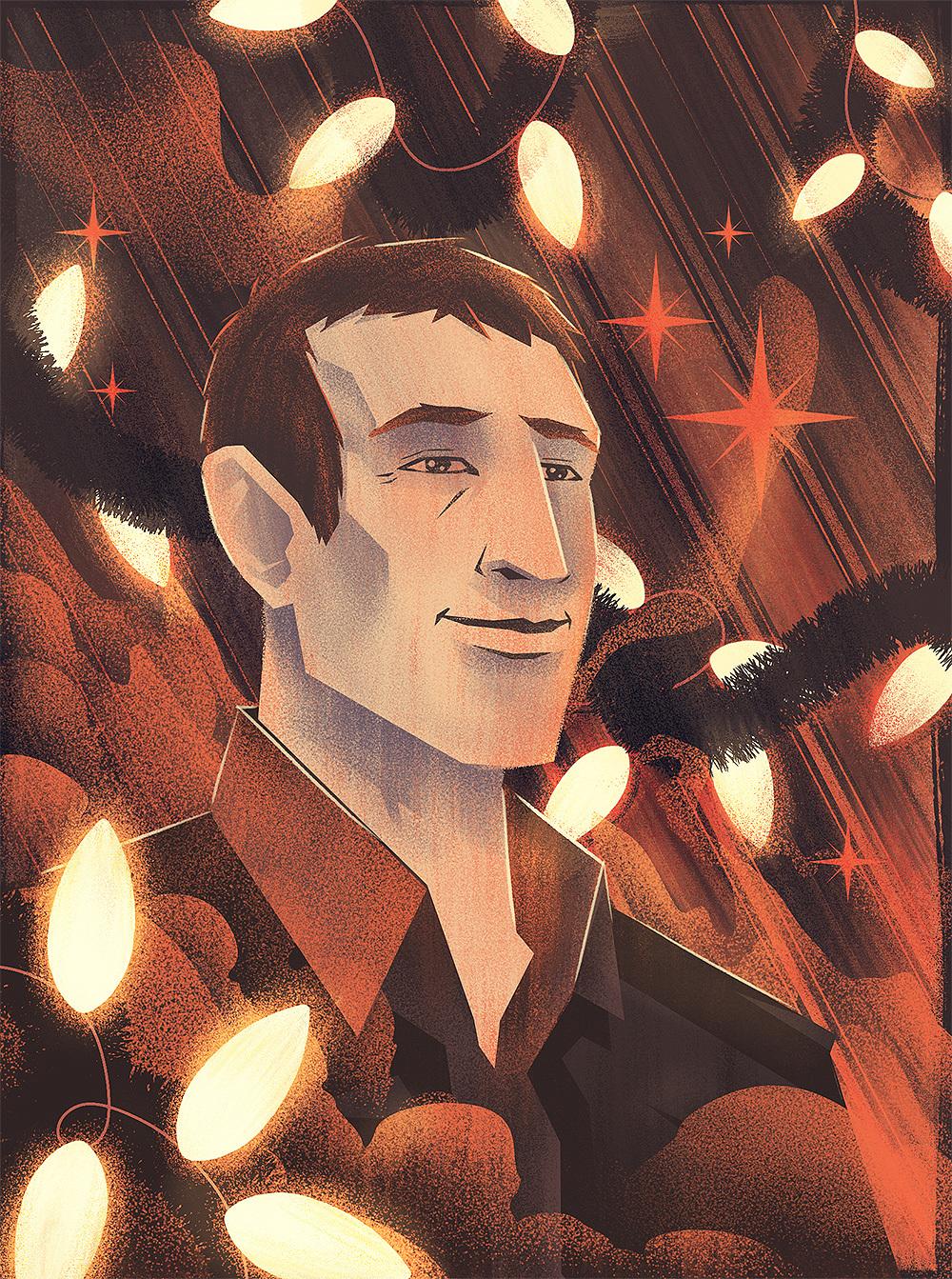 David Sedaris Portrait · Final Illustration