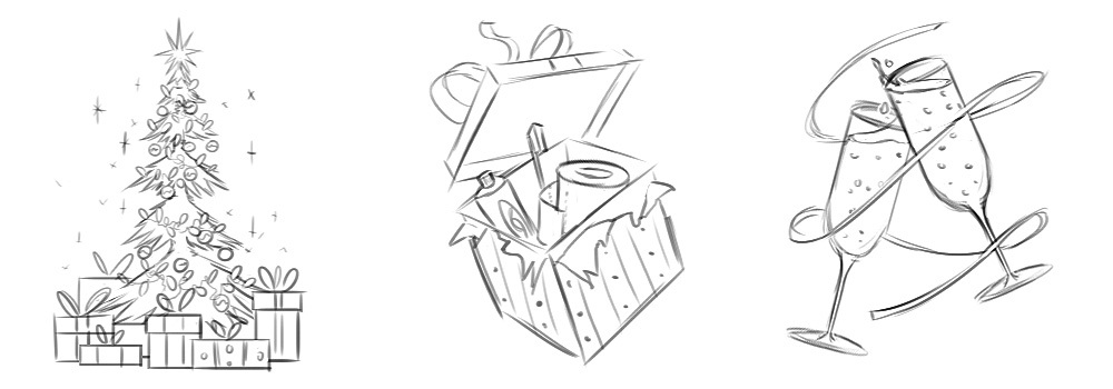 Christmas Icons · Sketches