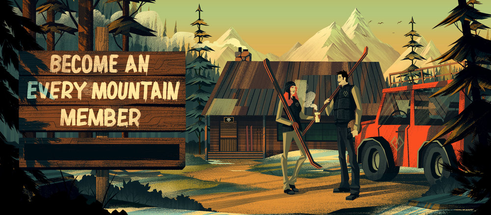 Mountain Lodge · Final Illustration