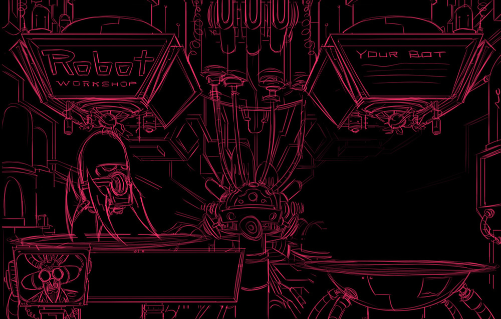 Robot Workshop ·   2014 ·  Inside The Robot Workshop Sketch