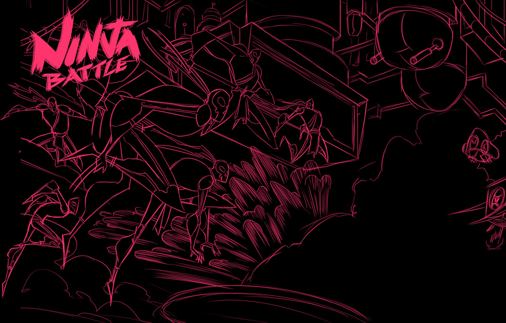 Robot Workshop · 2014 · Ninja Battle Sketch